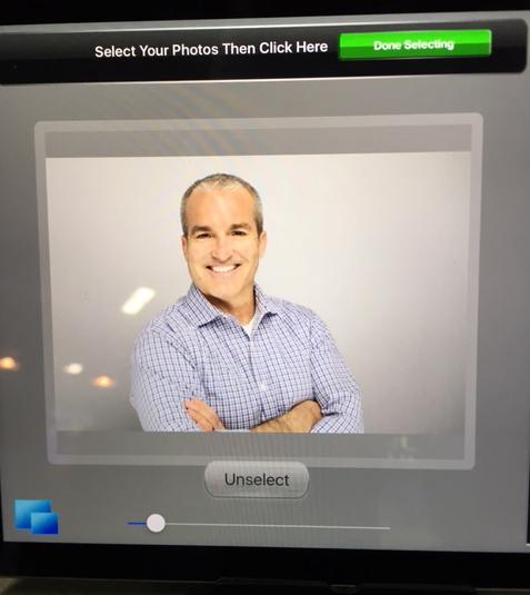 Hey David! Looking good on our iPad Kiosk social media tool.