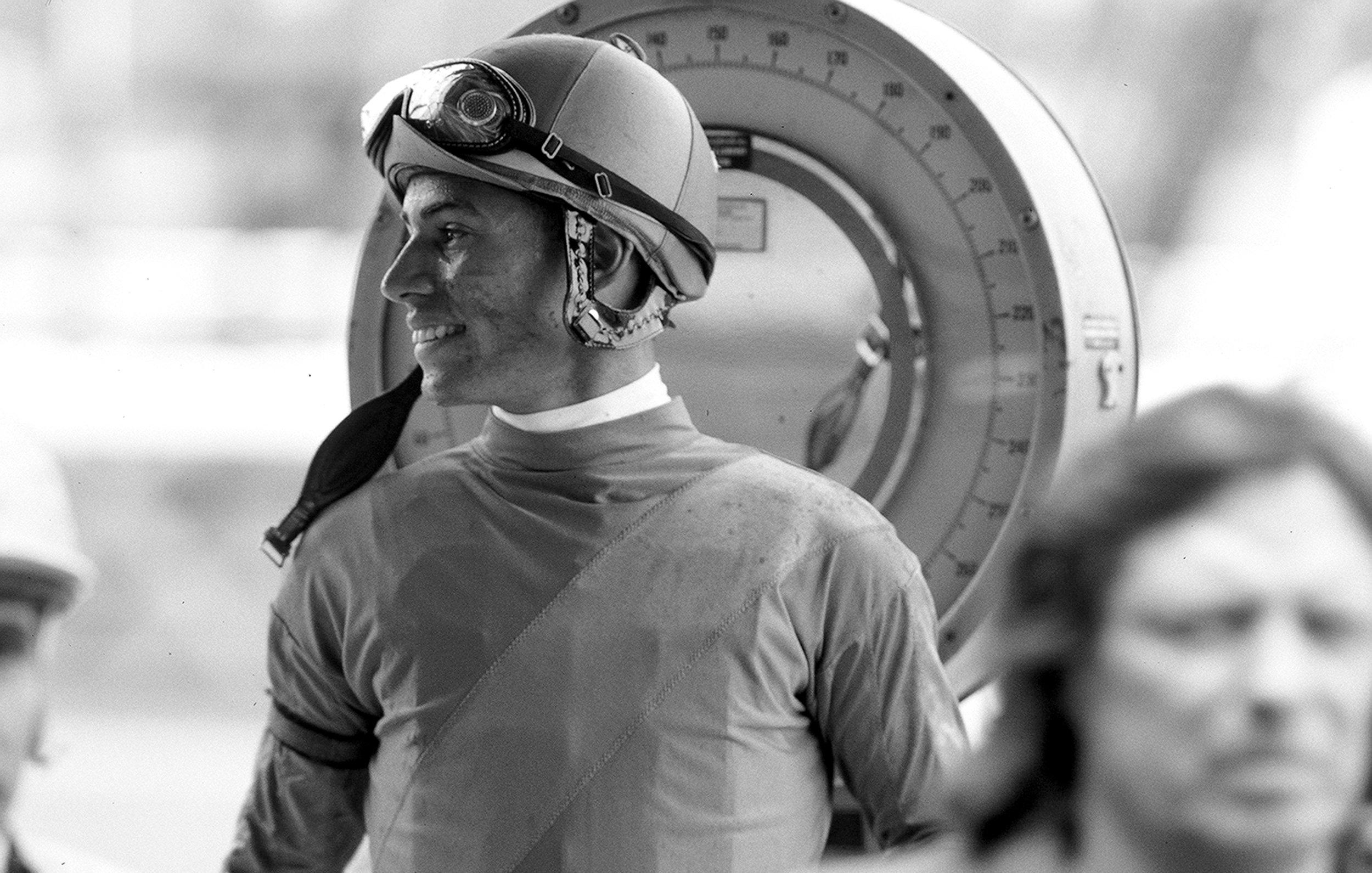 A Jockey making weight.