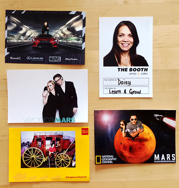 Layout samples from corporate and experiential marketing events.