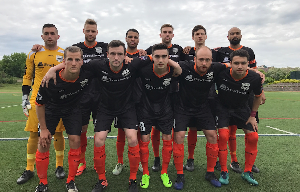 Stockade's Starting XI against New York Athletic Club.