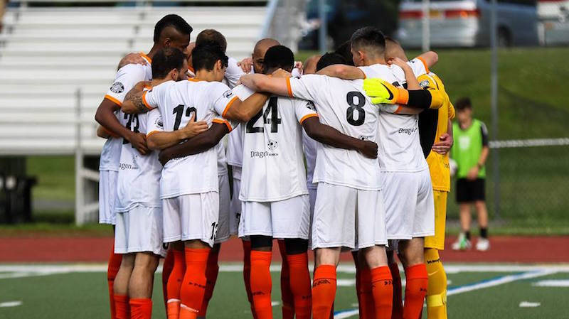 Kingston Stockade FC takes the pitch again on Saturday in New Jersey, as part of the 2017 NPSL Playoffs Powered by Mitre. (Photo by Leanne Keator at  Ride The Tide Photography )