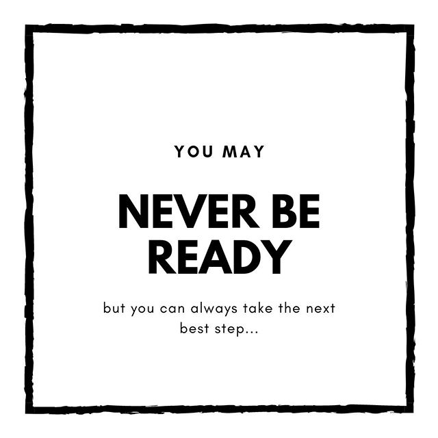It's often when we get close to the thing that scares us that our voices will tell us we're not ready, qualified enough or good enough. ⠀ The thing is...you may never be 'ready enough' in their eyes...⠀ But you can take the next best step...⠀ Just one step at a time can get you there faster than believing you are not ready and you'll do it 'when you are'...⠀ ⠀ Take the step today!