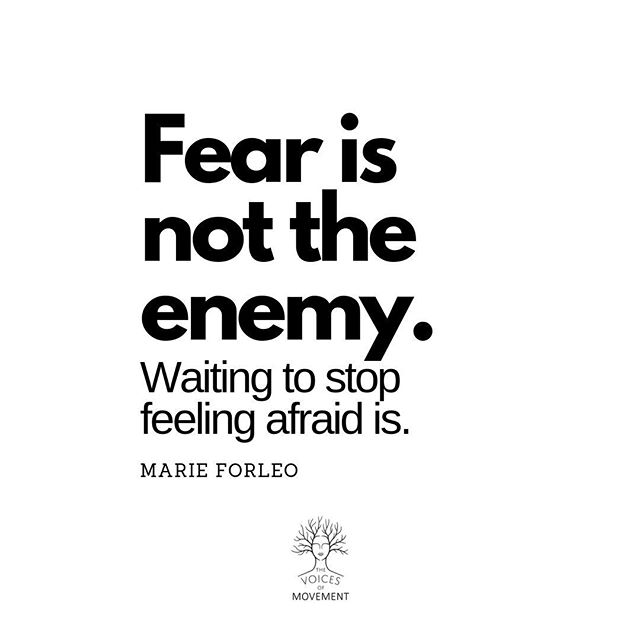 Right??? ⠀ Fear doesn't go away when it comes to doing the things that you love, like sharing your gifts. But your relationship to the fear voice can change. You can meet it, acknowledge it and then set boundaries with it so you can take the steps you want to take. ⠀ Don't get to 5 - 10 years time and wish you would have been more courageous. ⠀ Take a step today...⠀ ⠀ ⠀ ⠀ #thevoicesofmovement #fearvoice #innervoices #thevoicesofprogram #innerdialogue #mindset #mindfulness #meditation #creativeexpression #creativity #artistlife #truevoice