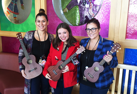The first batch of Ukuleles arriving at CHLA!