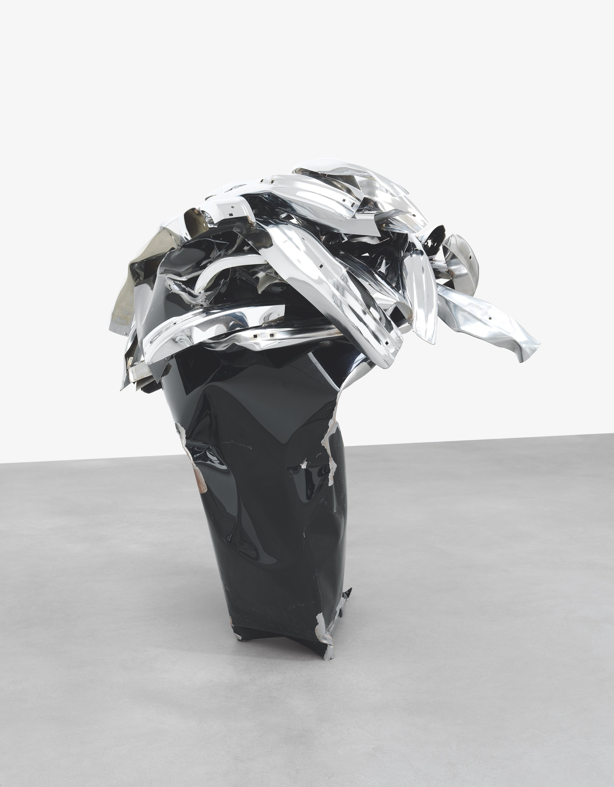 COLONELGARGLE   2008, Painted and chrome-plated steel, 52 7/8 x 56 1/8 x 40 3/8 inches (134.3 x 142.6 x 102.6 cm)  © 2018 Fairweather & Fairweather LTD/Artists Rights Society (ARS), New York