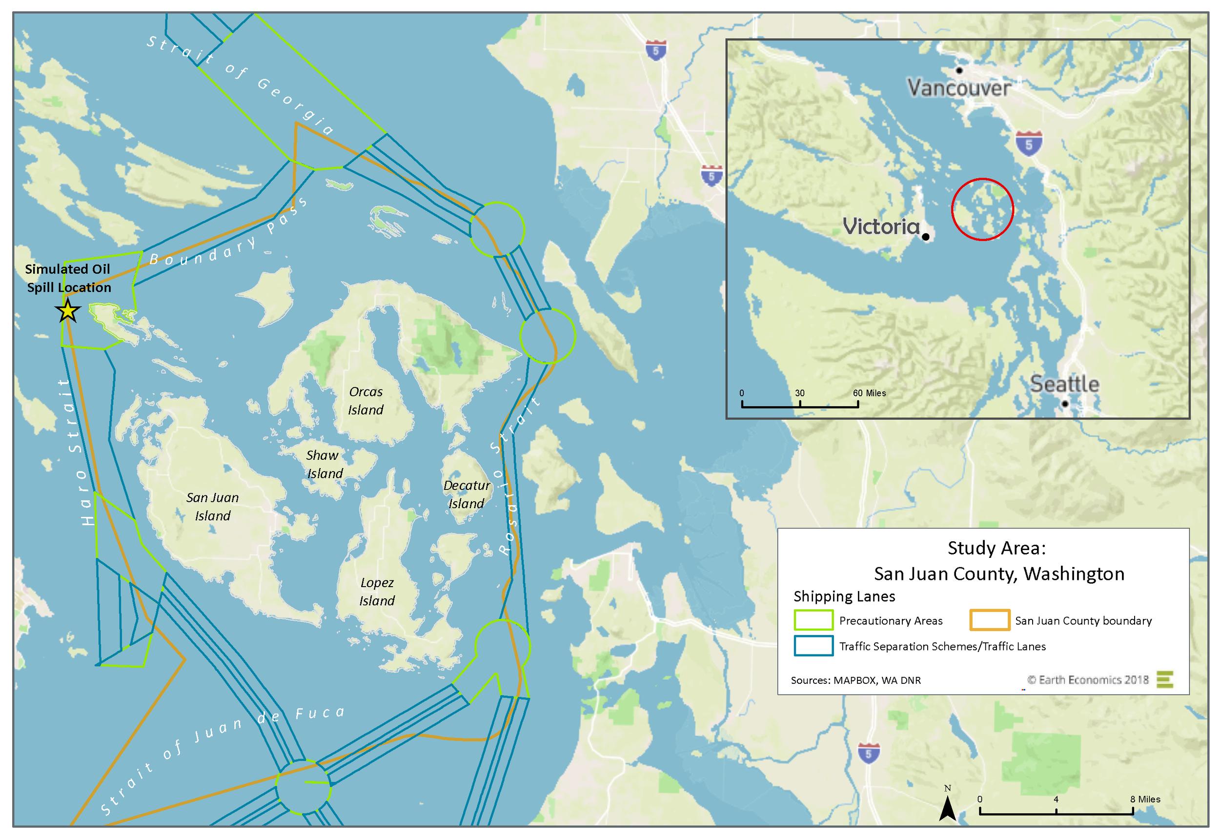Study Area: San Juan County, Washington    Click Image to Enlarge
