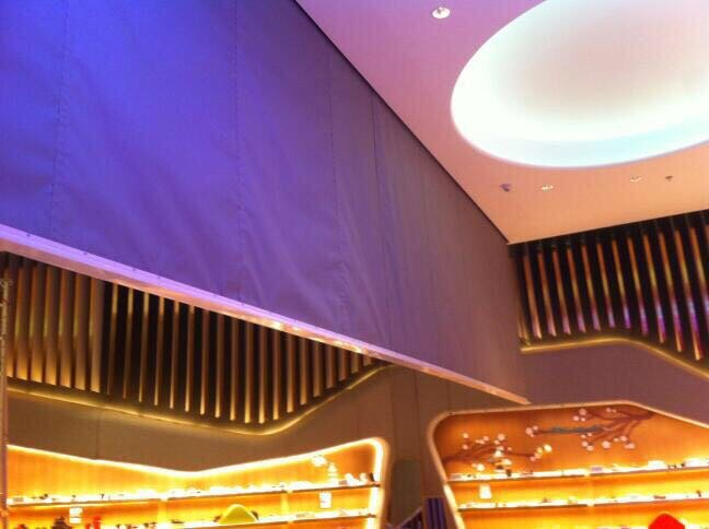 Automatic smoke Curtain System - Installed by Kent smoke and Fire curtains for Level shoes, Dubai Mall (Kids Section)