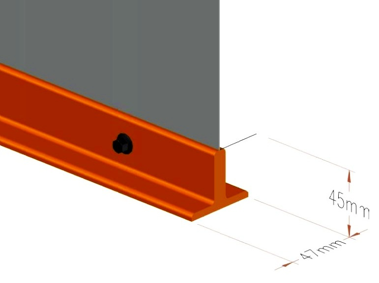 - T BOTTOM BARApart from Profile Bottom Bar , we also Provide T- bottom bar .It is designed to provide necessary weight to draw the curtain down during gravity safe deployment .