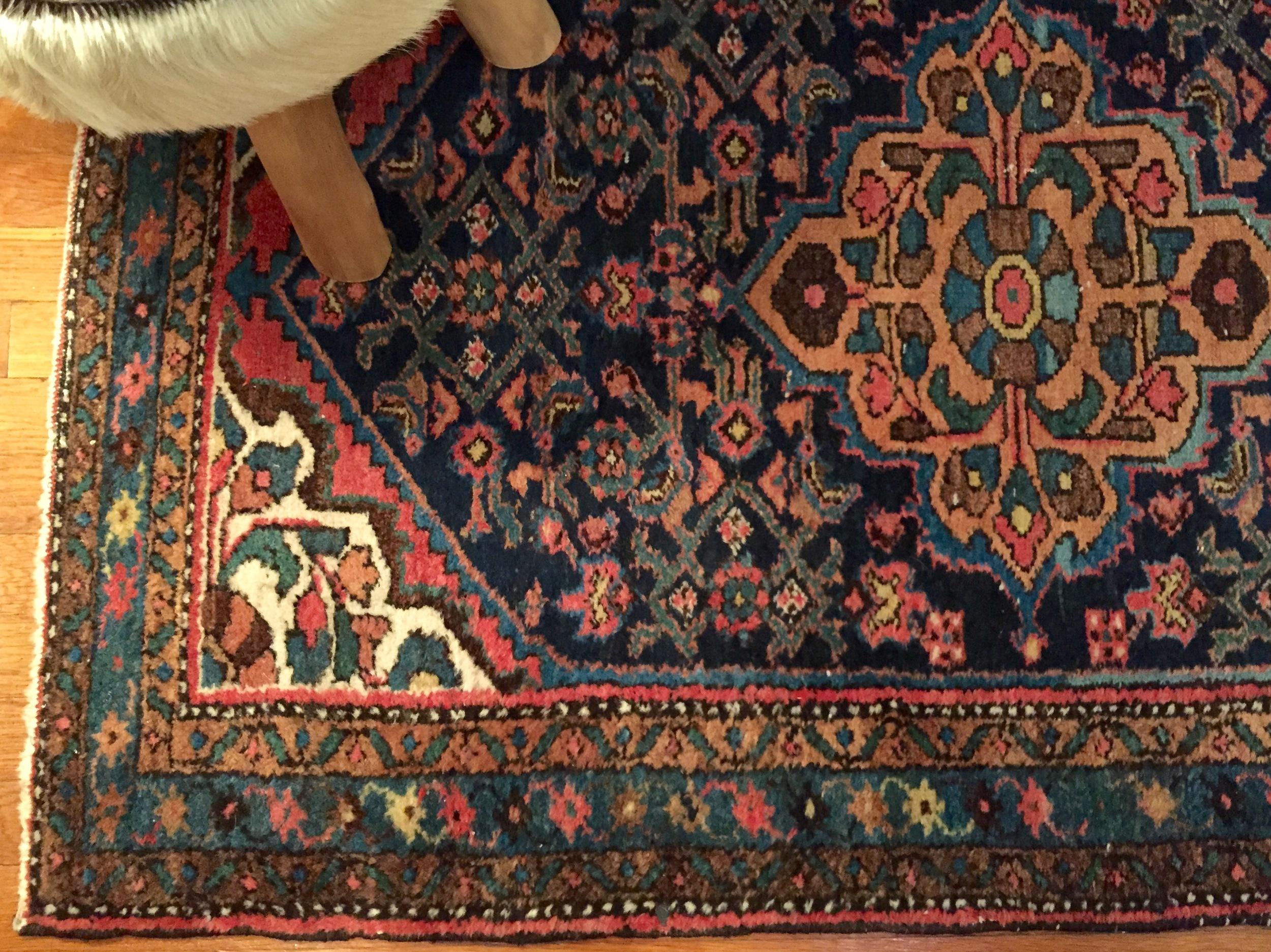 Close-up of Persian Rug.