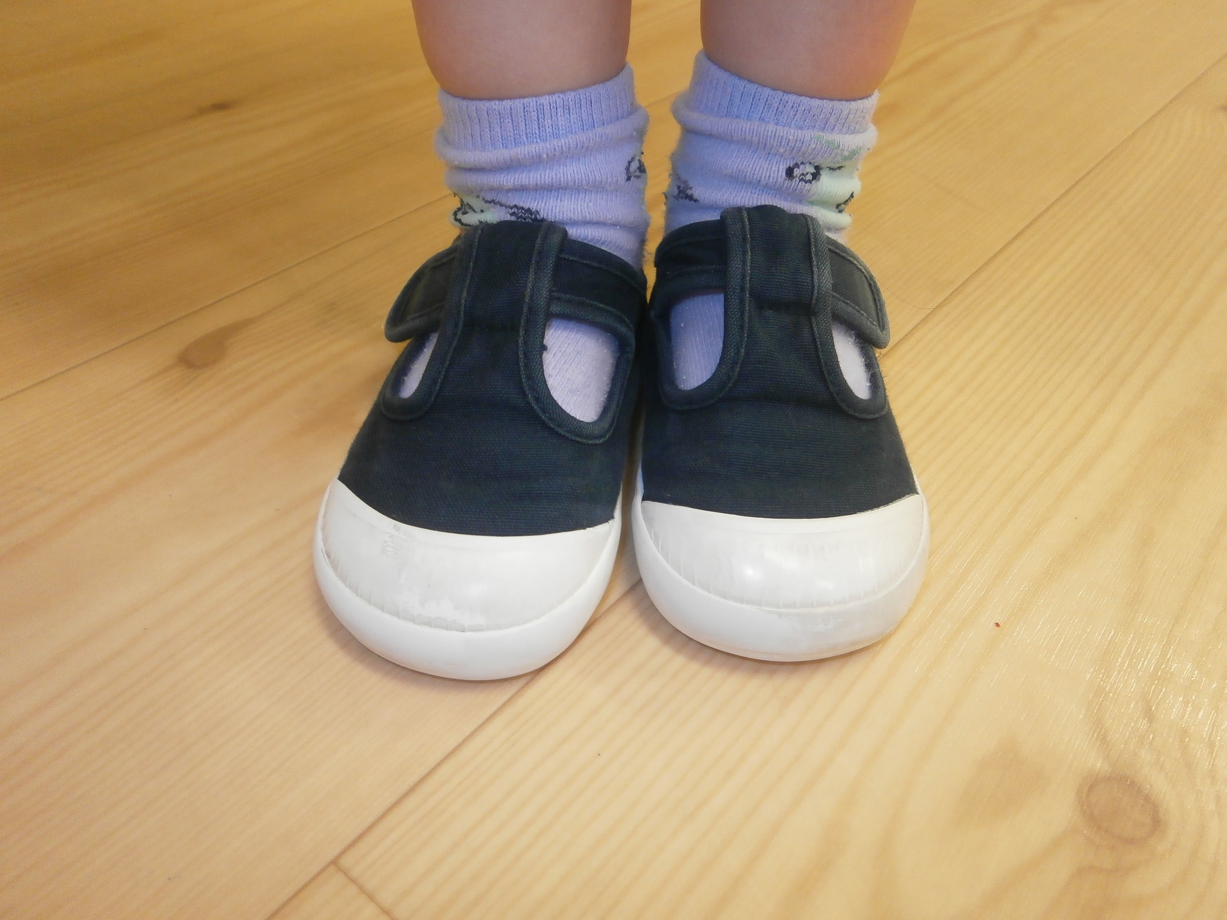 We took a photo of Rupert's indoor shoes for our new Morning Jobs poster