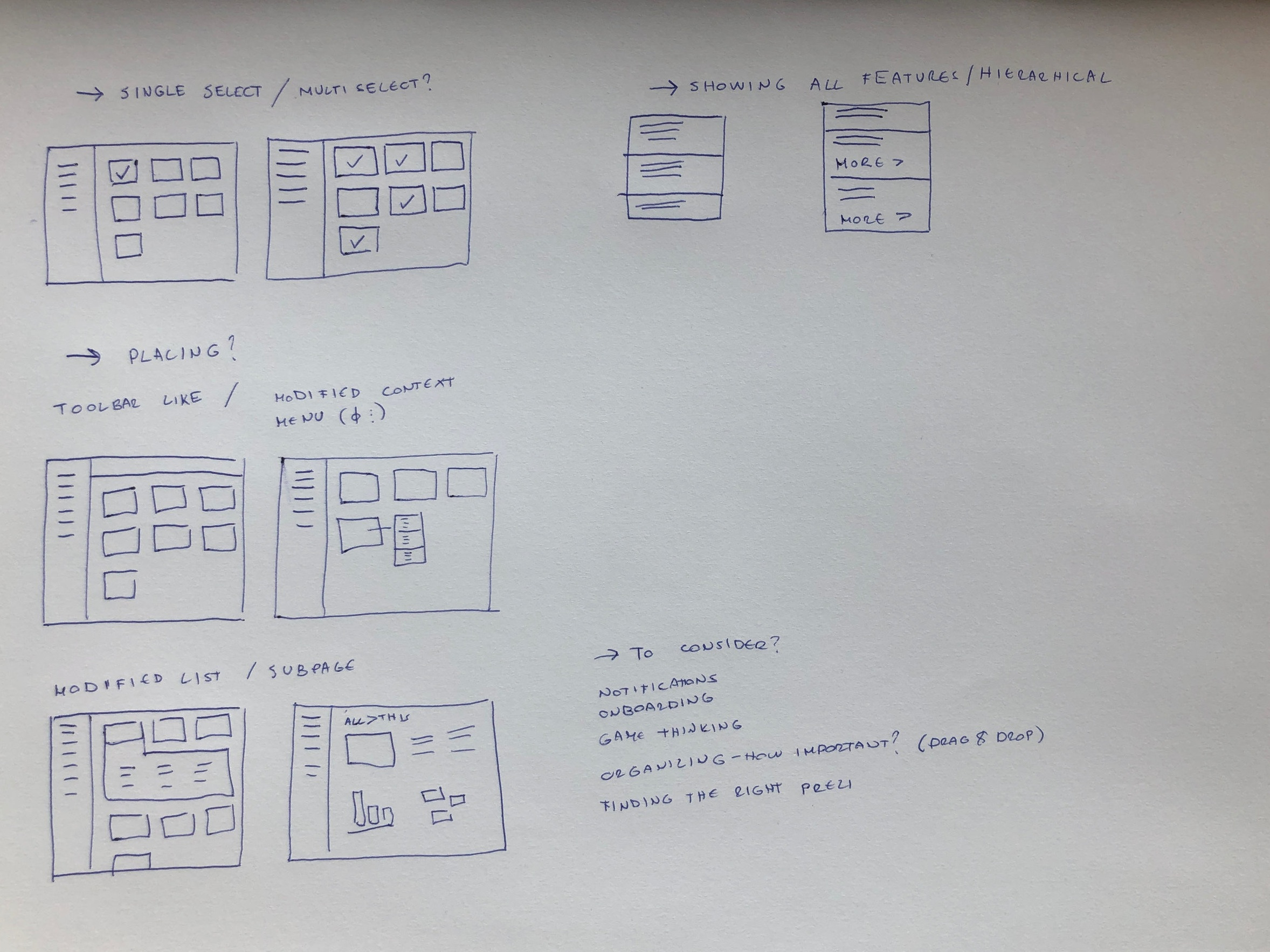 Thoughts & ideas around bringing these features to the dashboard