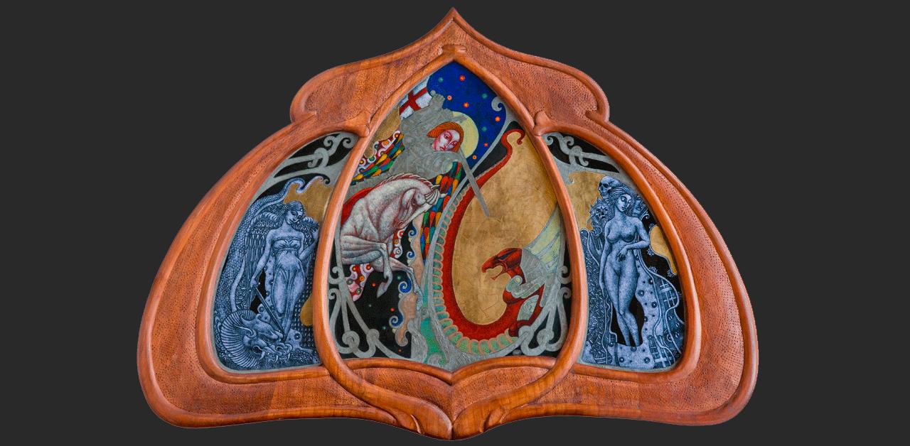 Szent György (29x43 cm)