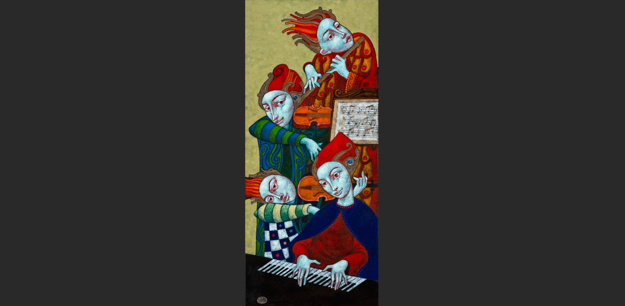 Muzsikusok (14x32 cm)