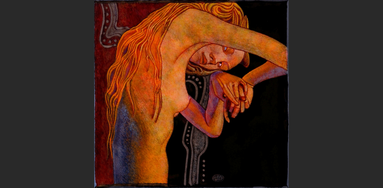 """The Red Hair Girl (8.5"""" x 7.7"""")"""