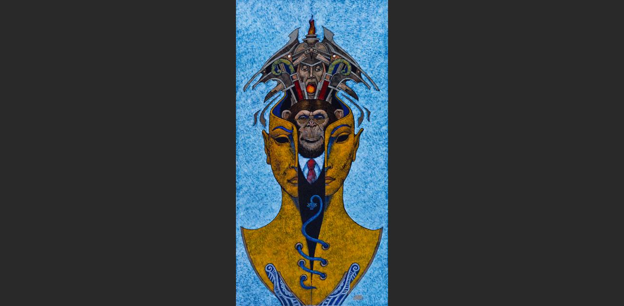 A Fényhozó (tanulmány, 20x40 cm)