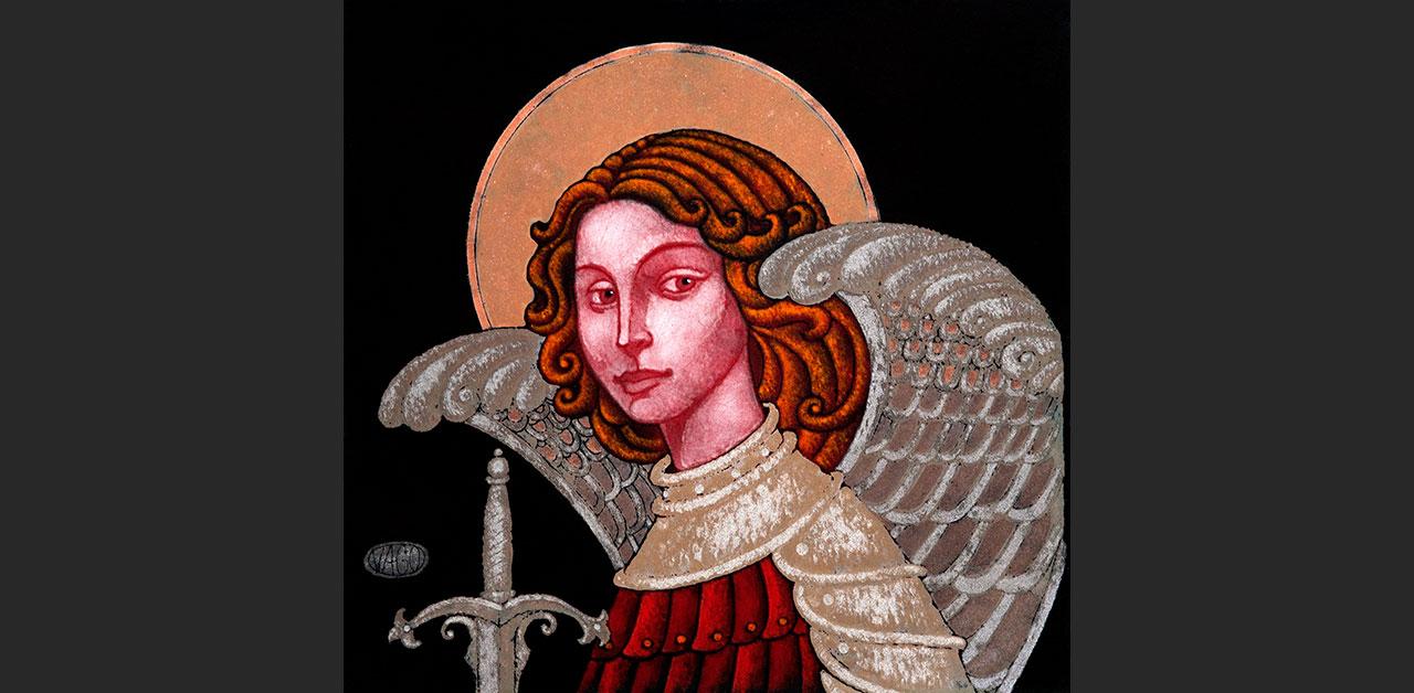 "St. Michael (5.9""x5.7"")"