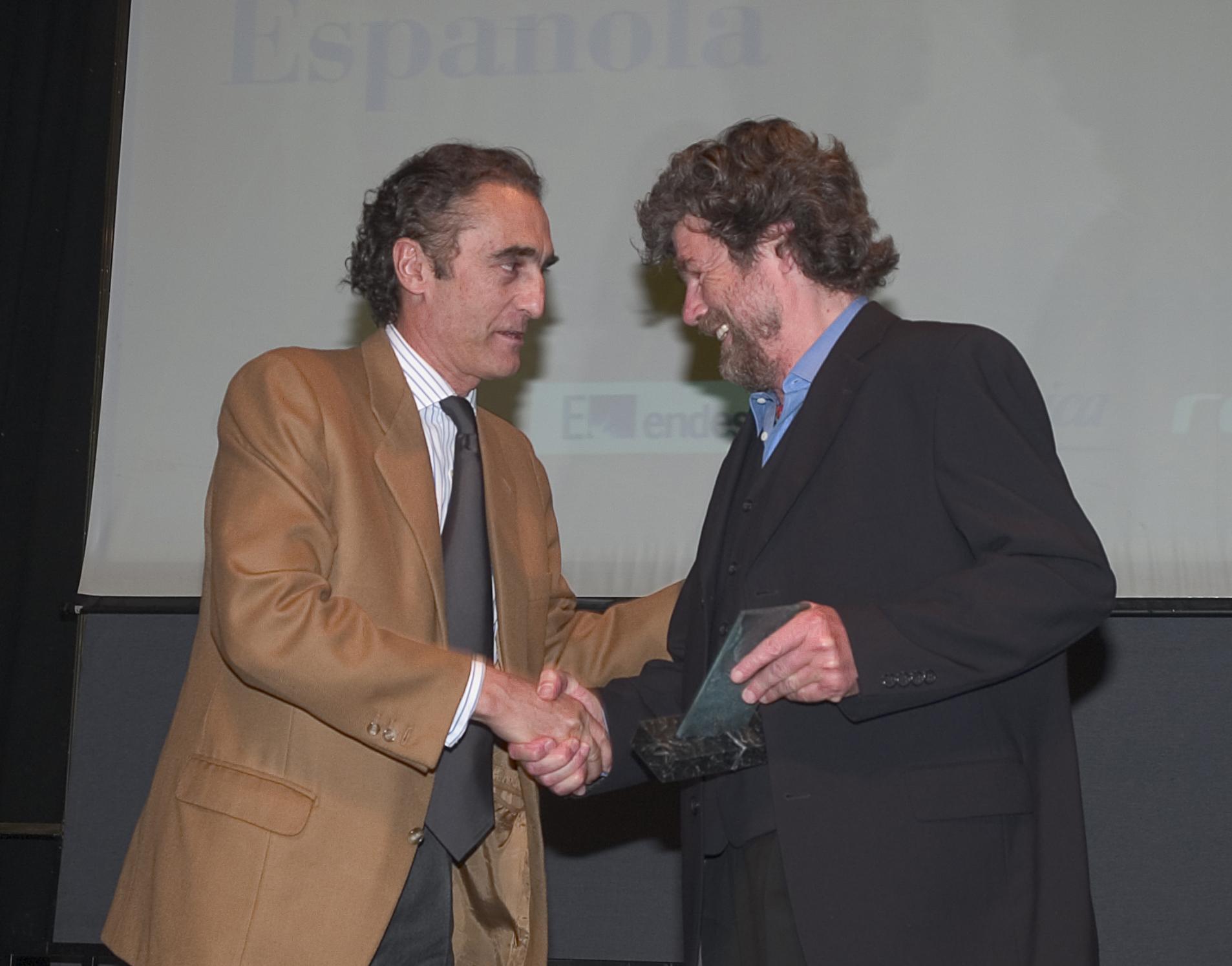 Reinhold Messner y Salvador García-Atance