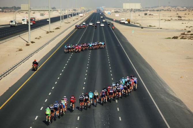 Abanicos en el Tour de Oman