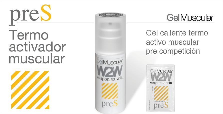 gel muscular ciclismo W2W