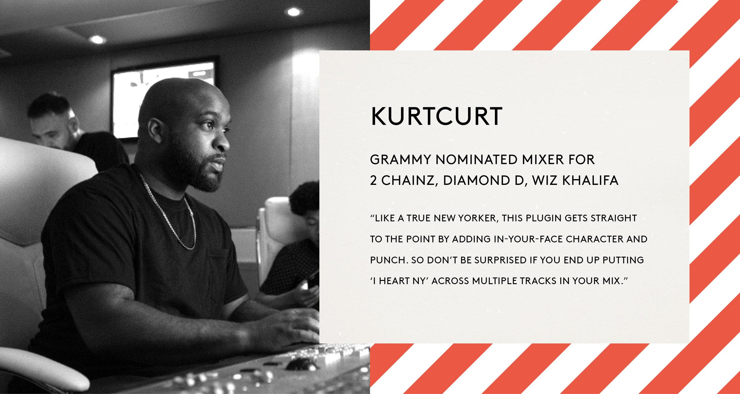 KurtCurt BABY Audio I Heart NY quote