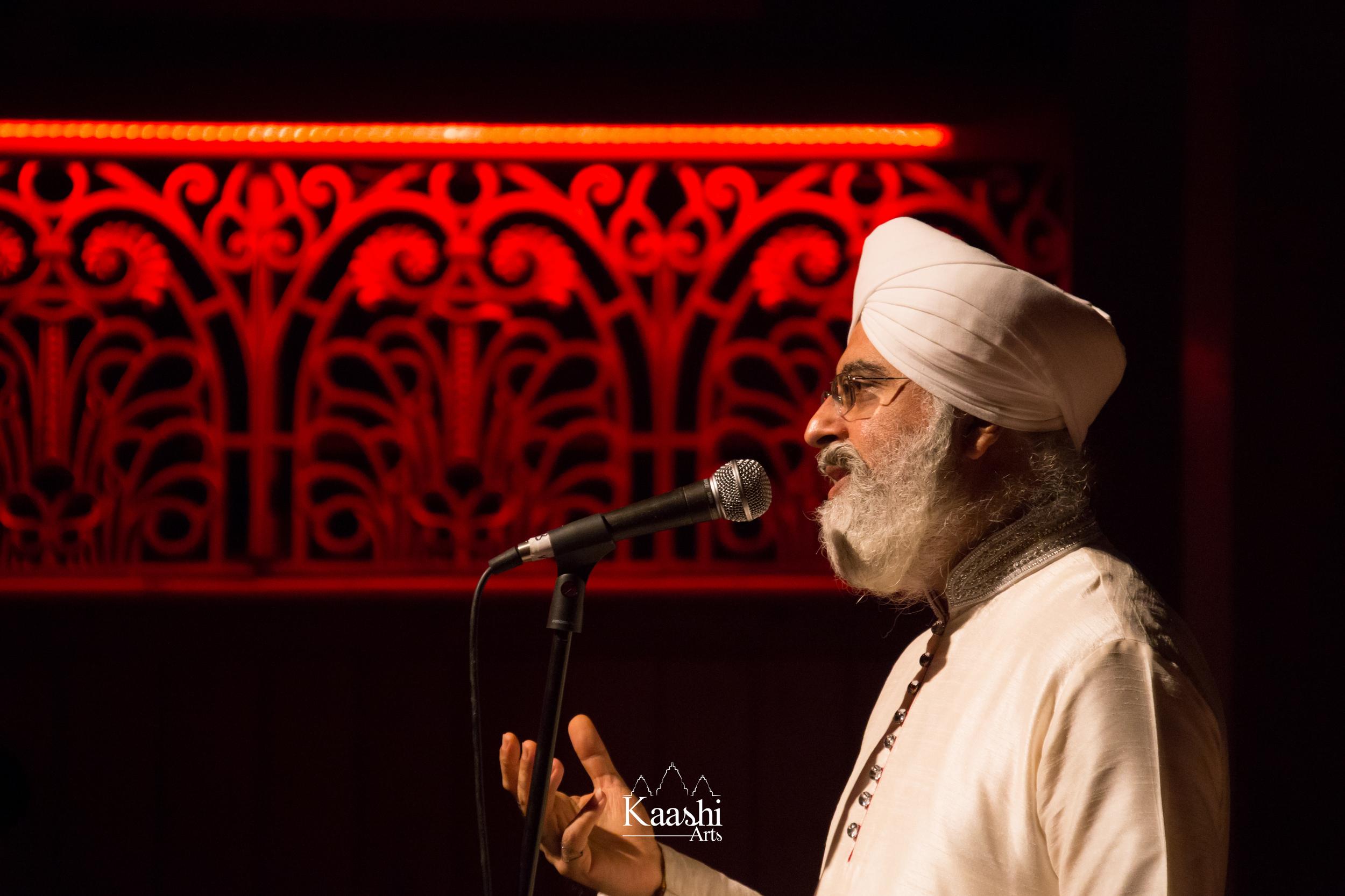 Ustad Dharambir Singh Ji at Shardhanjali 2016.