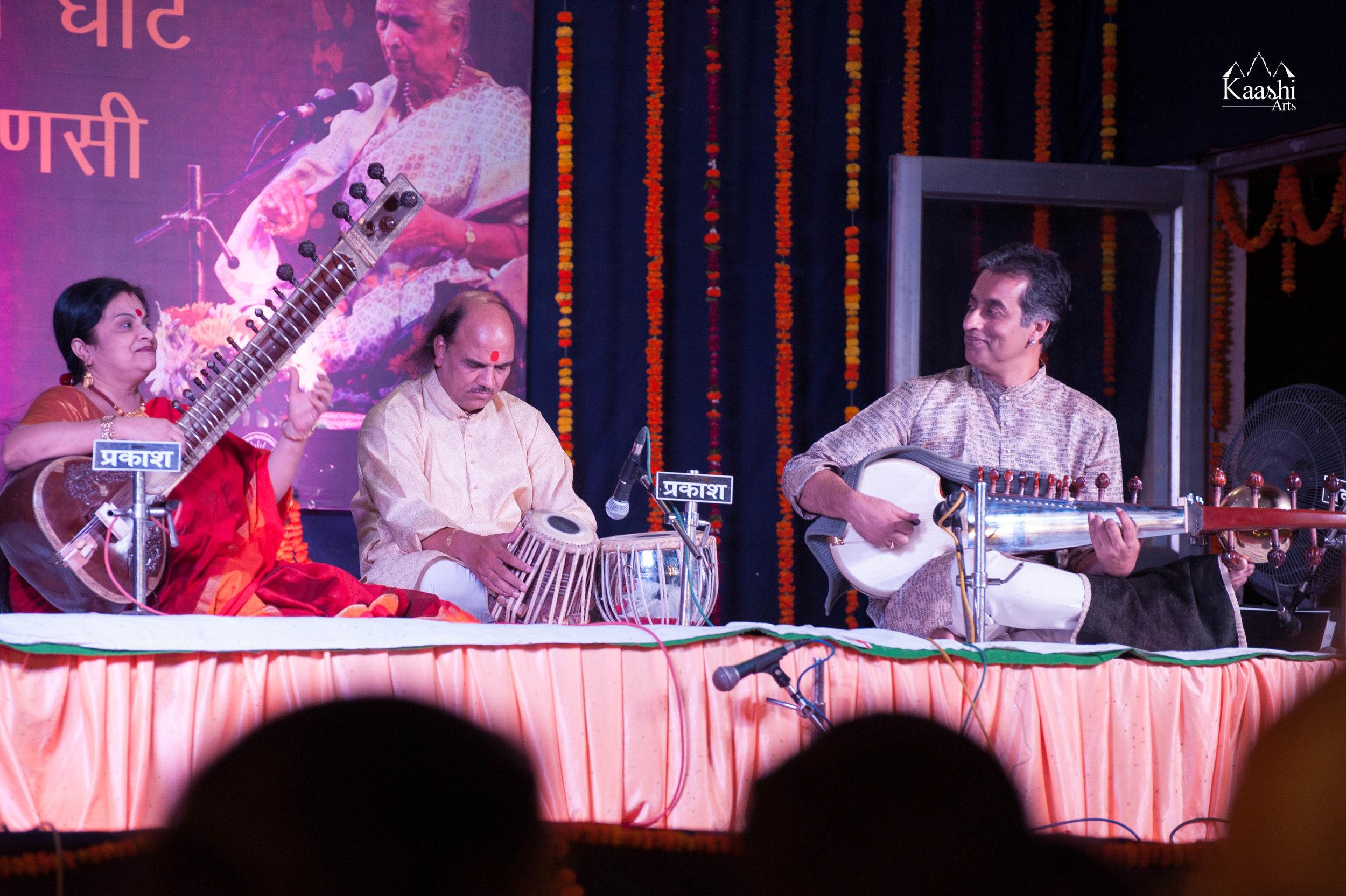 Dr Rajeeb Chakraborty ji & Smt. Reena Chakrabarty Shrivastava ji with Shri Pundalik Bhagwat ji