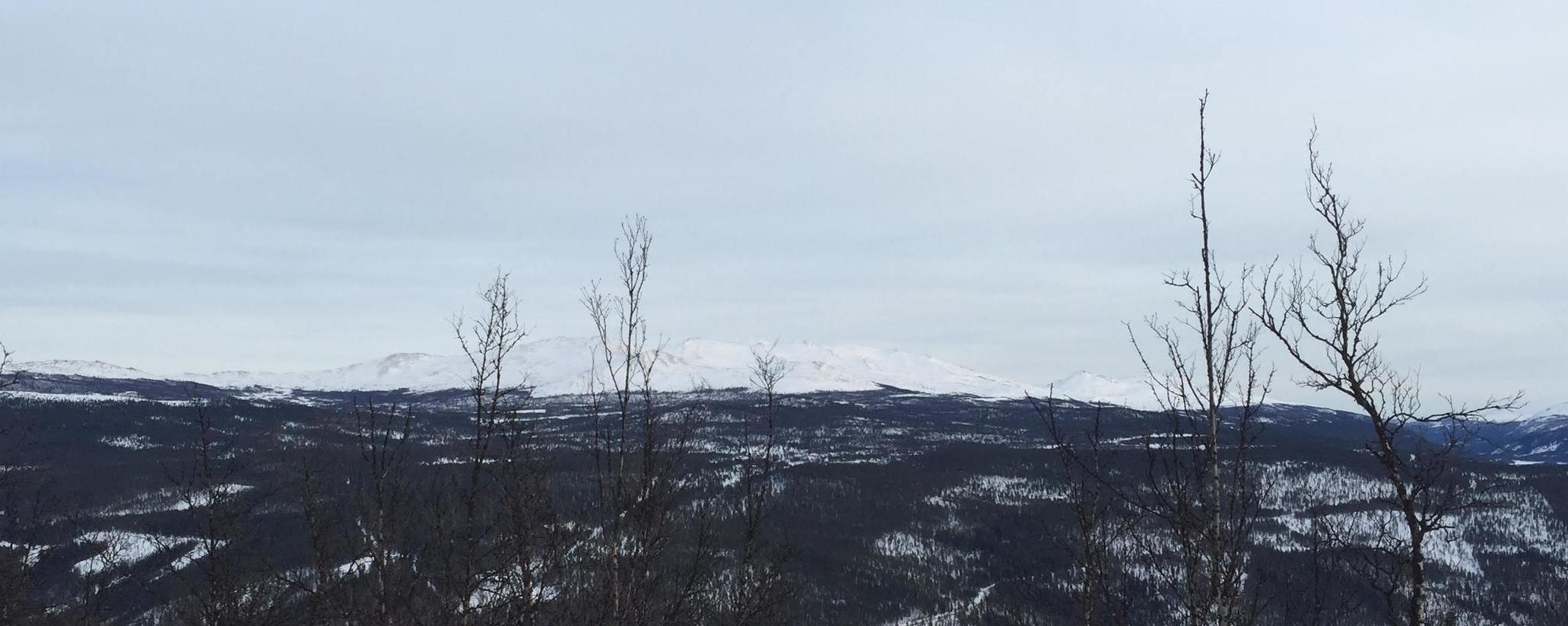 Ruten (1516 moh.) sett fra hytta