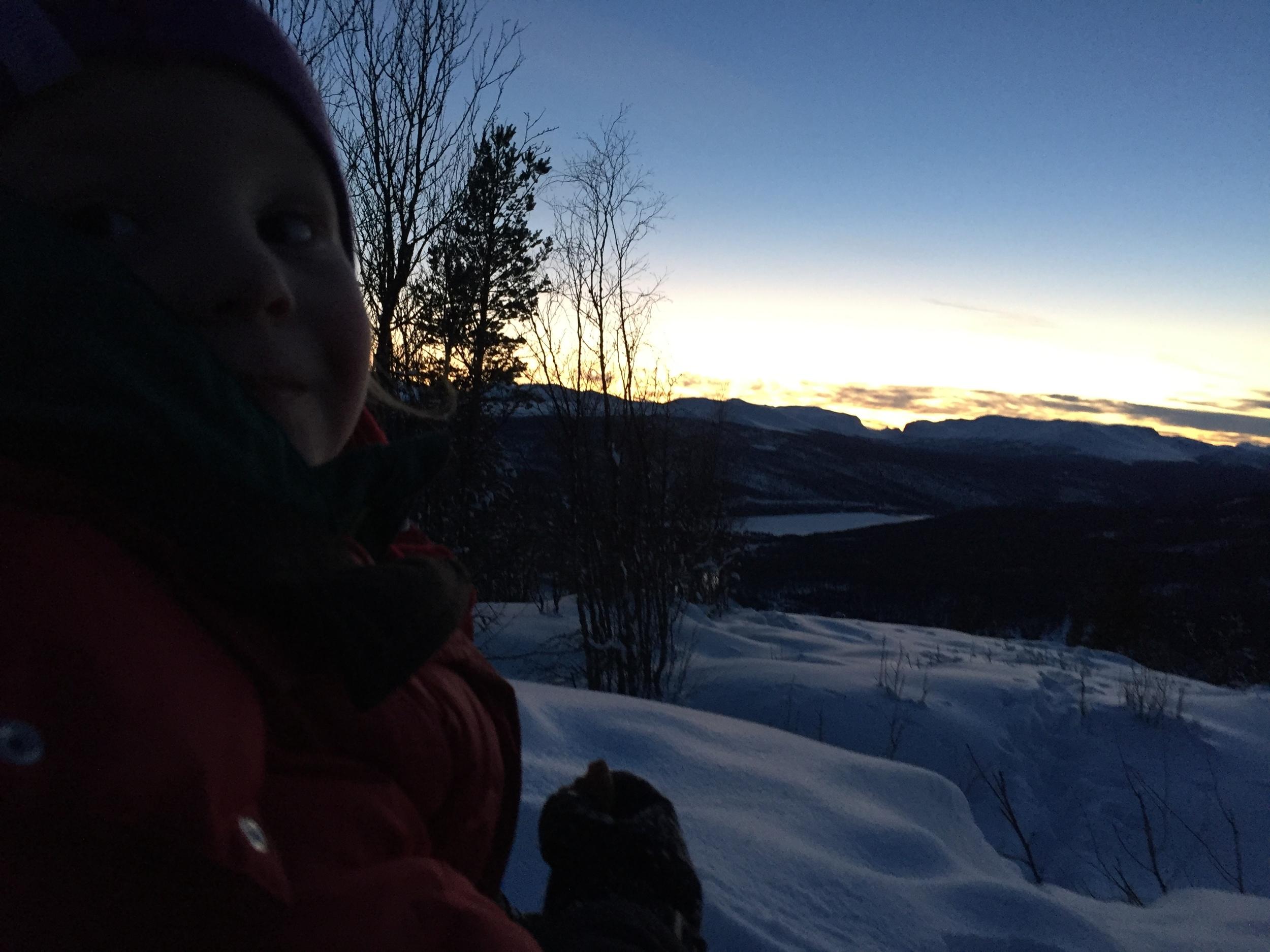 Solnedgang over Sikkilsdalen