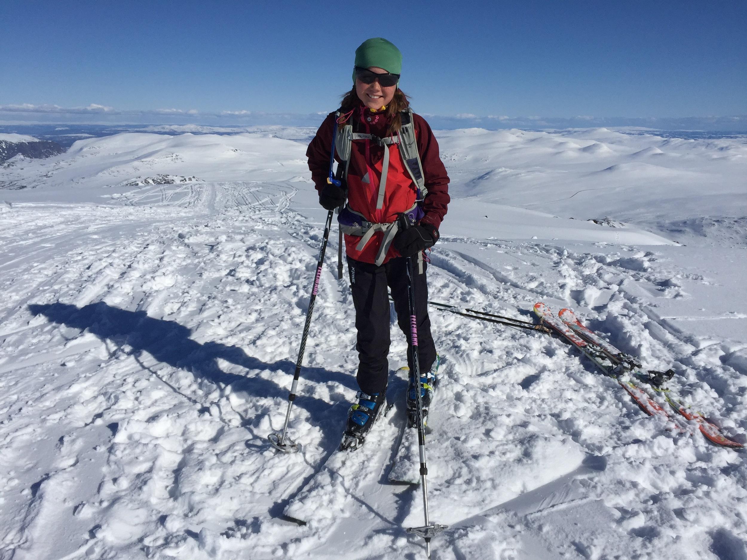 Toppen av Høgdebråtet - igjen, før nedkjøringen til teltet.