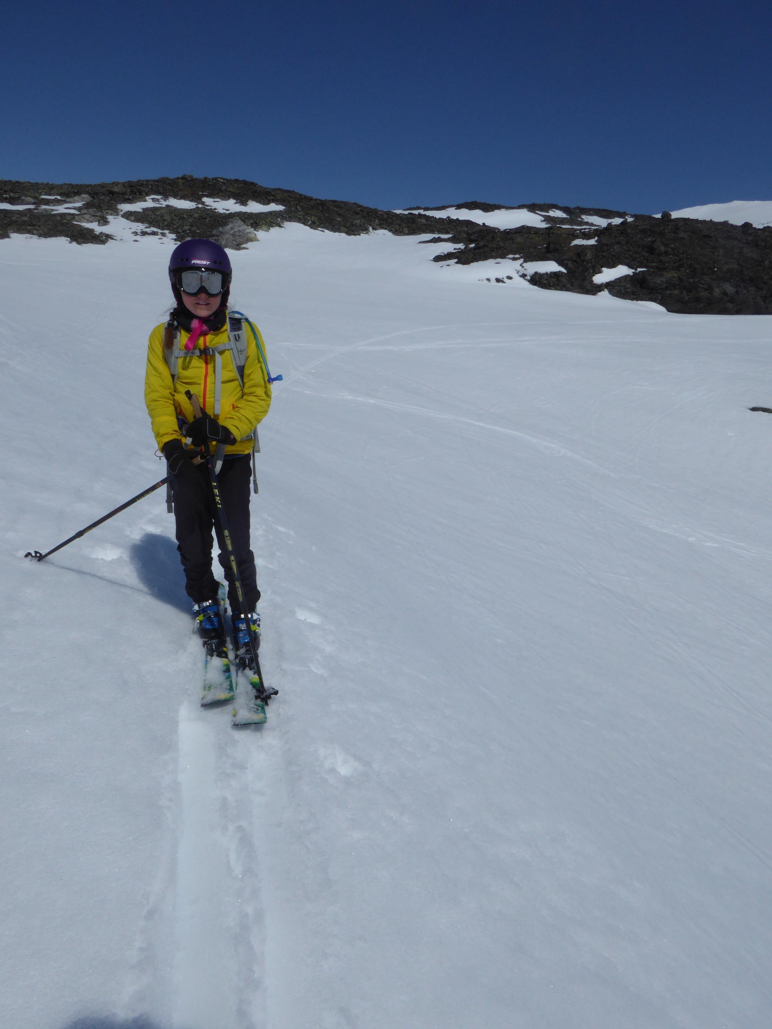 Vi har skiftet til slalom, og er superklare for nedoverbakker