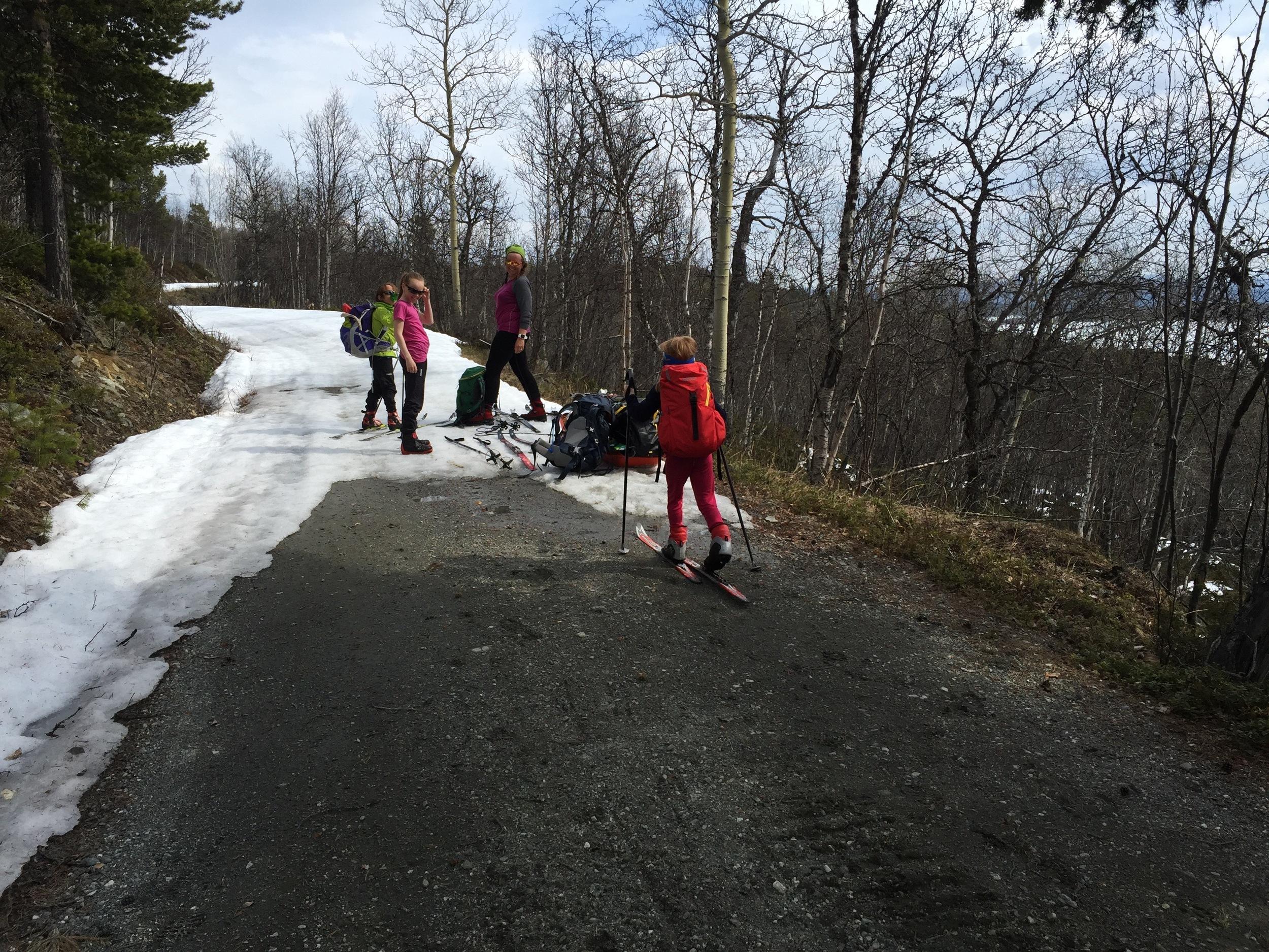Turen til Sikkilsdalen ble siste overnattingstur på ski for hele familien