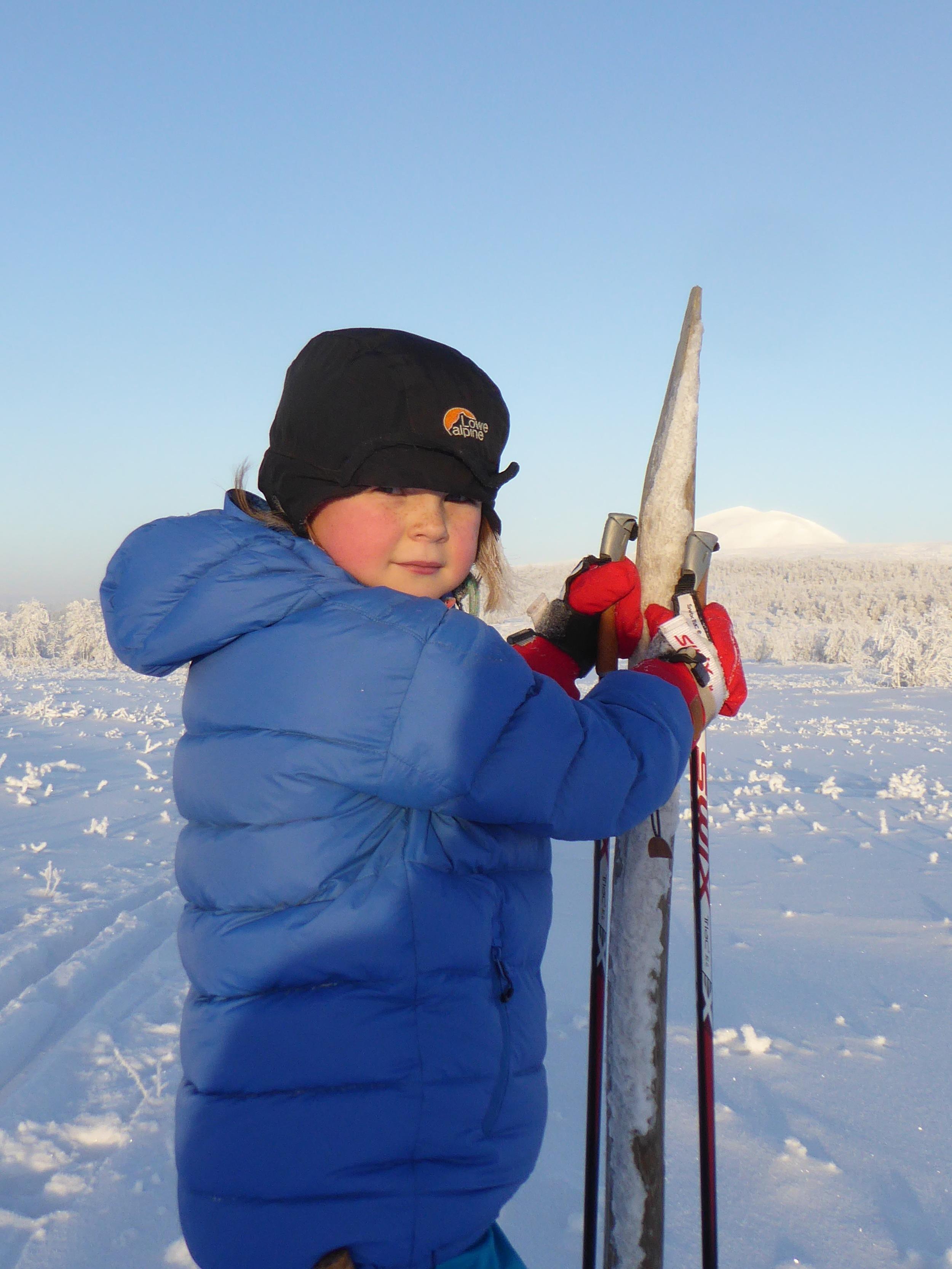 Kaldt og klart vær i januar - en av de første turene til Skardtjønna
