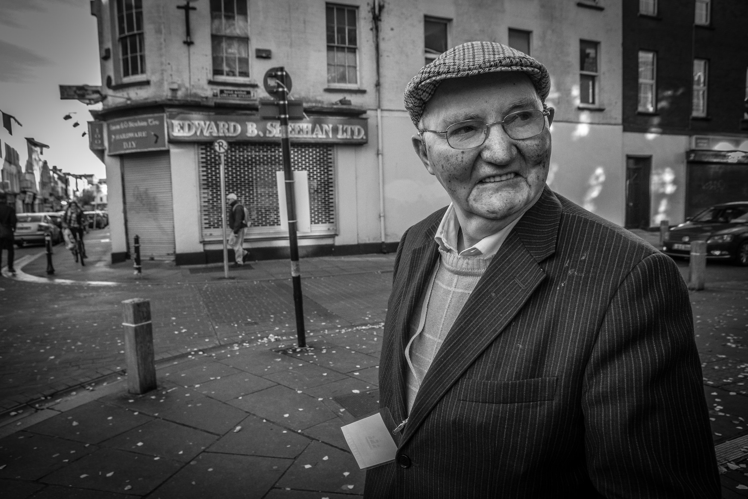 I've seen Liam Kirby a lot recently.  I saw him at nearly every screening I was at at this years Cork Film festival.  He told me he has been coming to the festival for 53 years, he travels up from waterford especially.  I would sometimes notice him shuffle out midway through a screening and I found myself agreeing with his taste most of the time!  He became a kind of canary in the mine for me, when Liam moved out the film would likely turn out to be a dud!  (Although he did sit through some stuff that even I thought was pretty full on...'   I Hope I see him at next years festival!