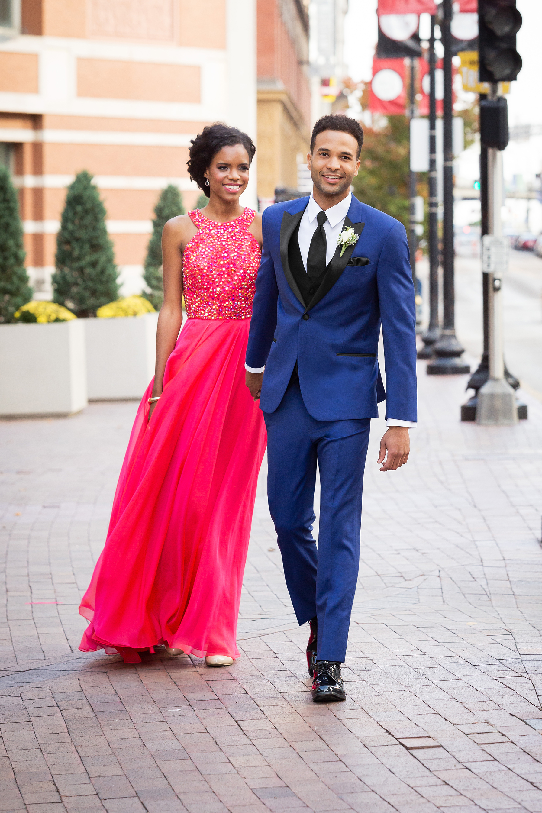 Tuxedos by American Male - While you shop, your date can visit us in the same building to select their matching outfit! We have tuxedos available to rent or to purchase in a variety of styles and colors.In fact, if you purchase your dress from The Prom Shoppe, you will receive a color match code and chance to win discounts for the Tux!