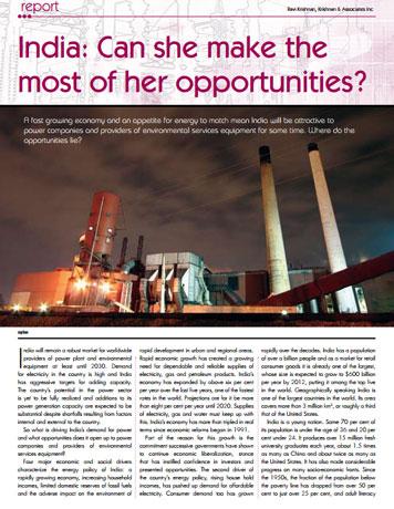 K&A, Article, Indian Power Generation, Market Report, India Expertise, Krishnan & Associates