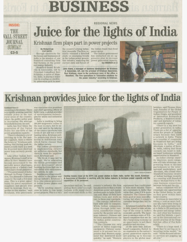 K&A, Article, Indian Power Generation, Market Report, India Expertise, Krishnan & Associates