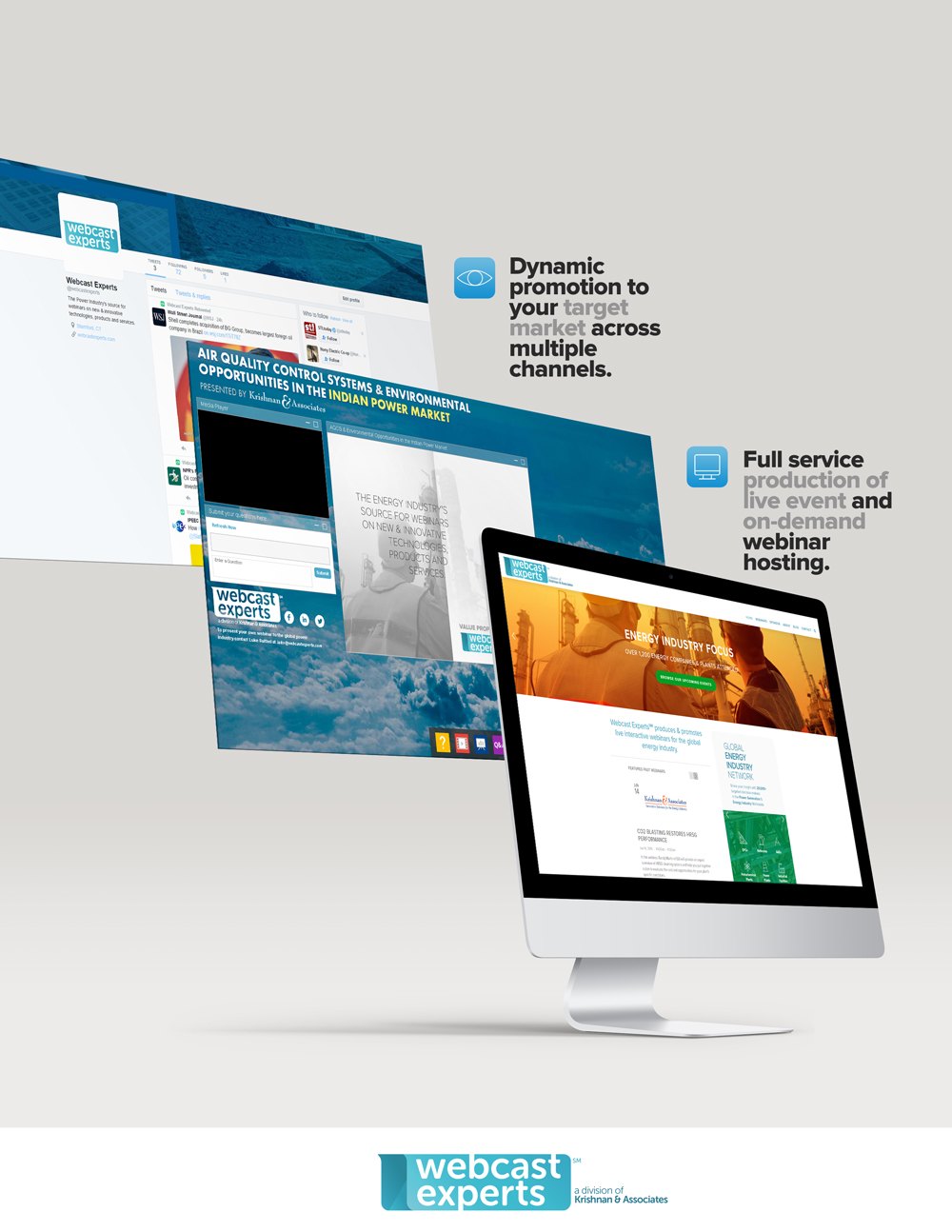 Webcast Experts, Webinar Production, Webinar Promotion, Krishnan & Associates, K&A