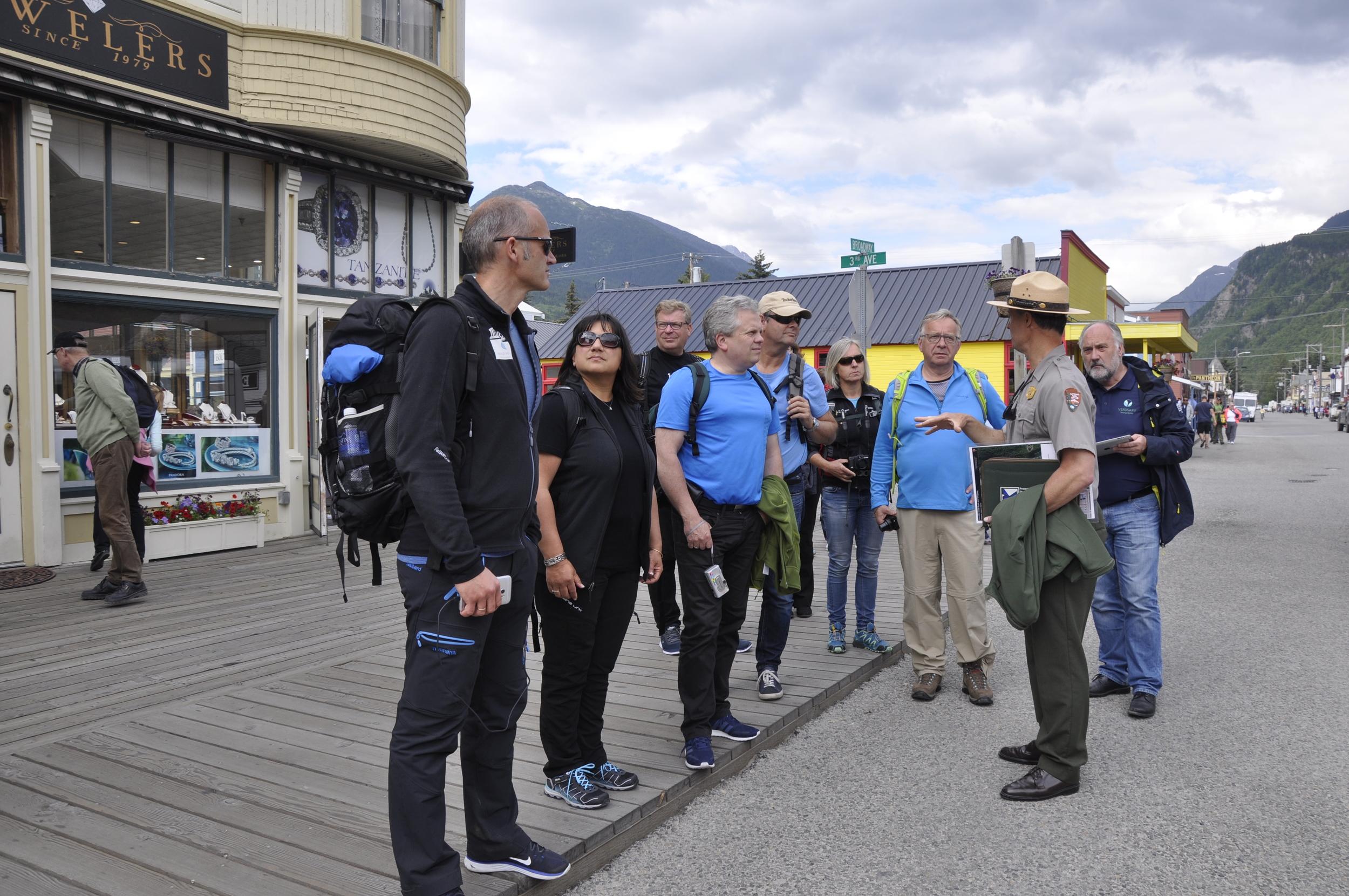 Orientering ved Park Ranger i Skagway