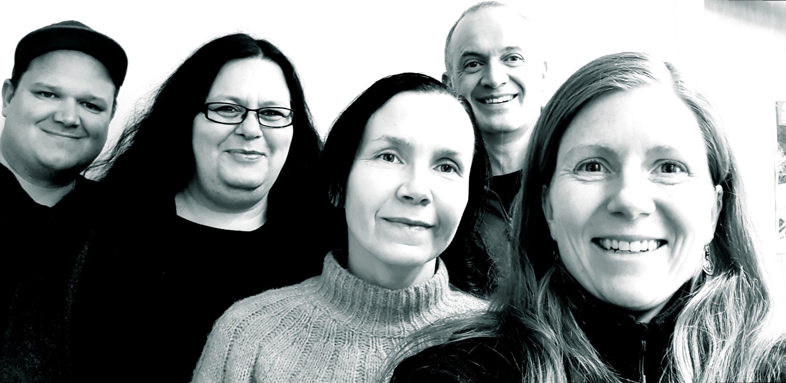 Frå venstre: Bengt Erlend Skjerdal, Gro Nesse-Bremer, Gry Mørk, Erling Oppheim og Snædis L.Bjarnadottir