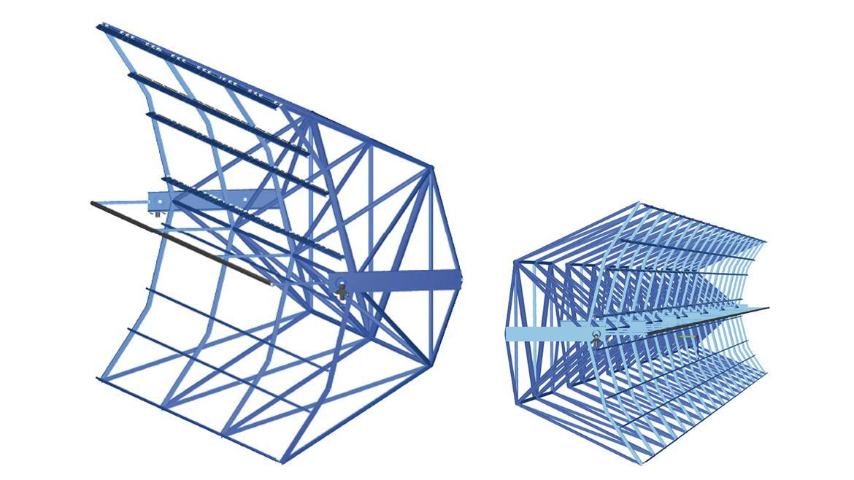 Cylindrical-parabolic trough