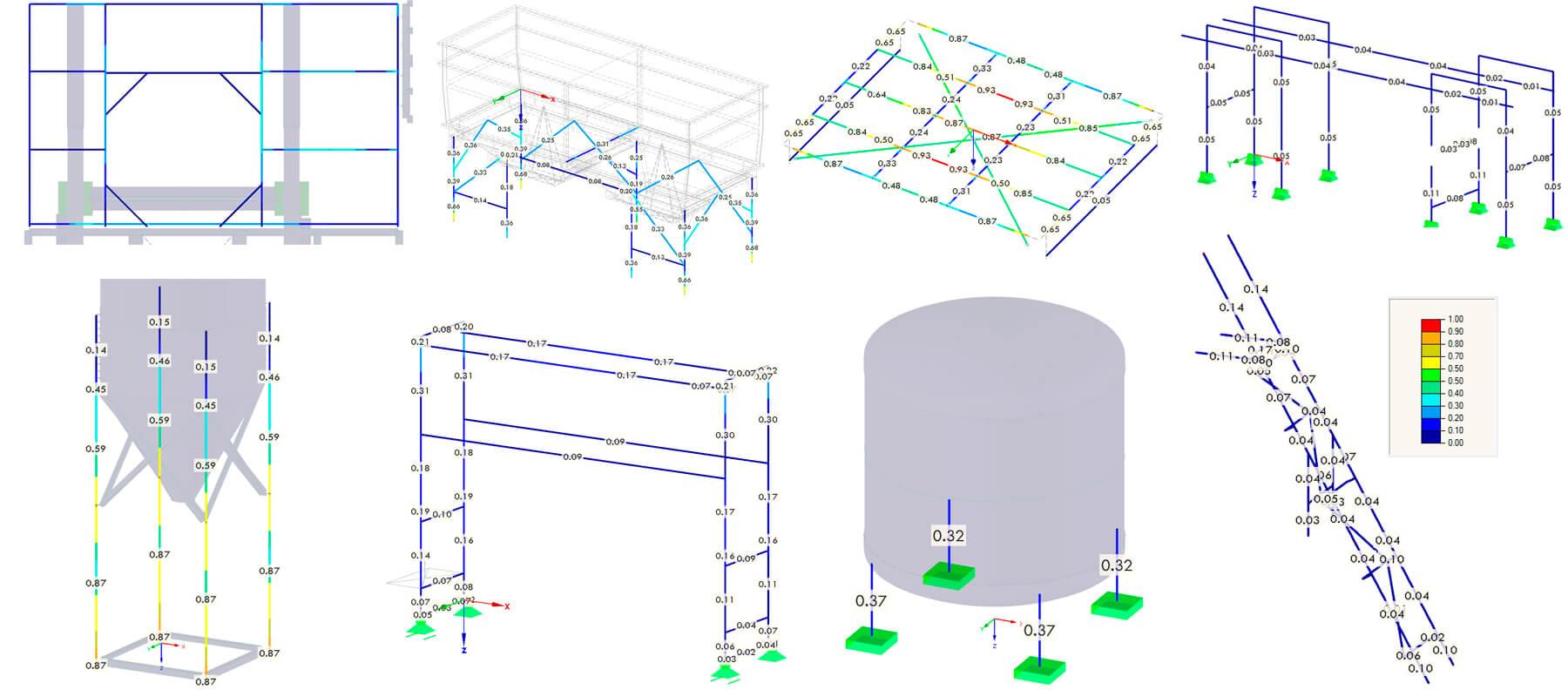 Soportes de Estructuras para Refinería