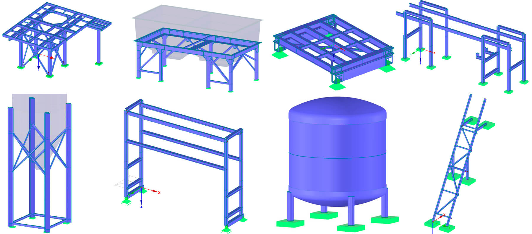 Supporting Structures for Oil Refinery