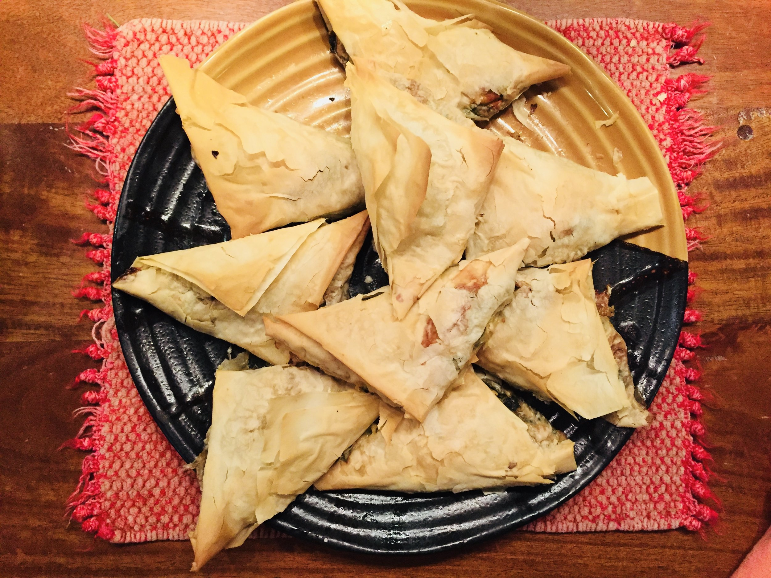 A healthier Spanakopita – more spinach, less oil and dough