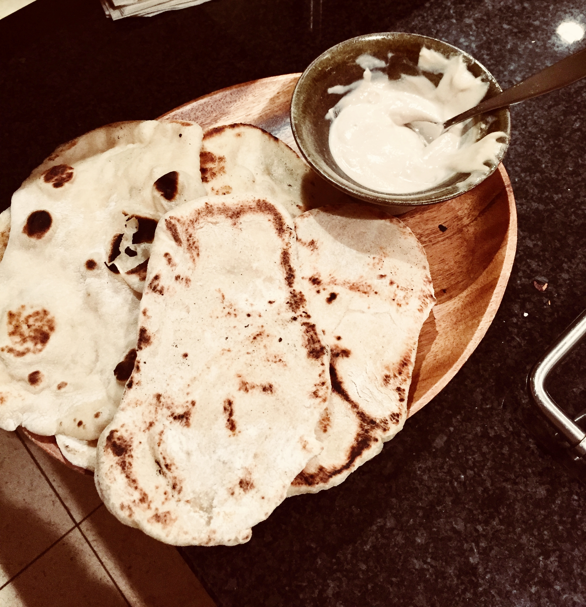 The best, fresh, most wholesome naan, no special equipment necessary -- any skillet will do