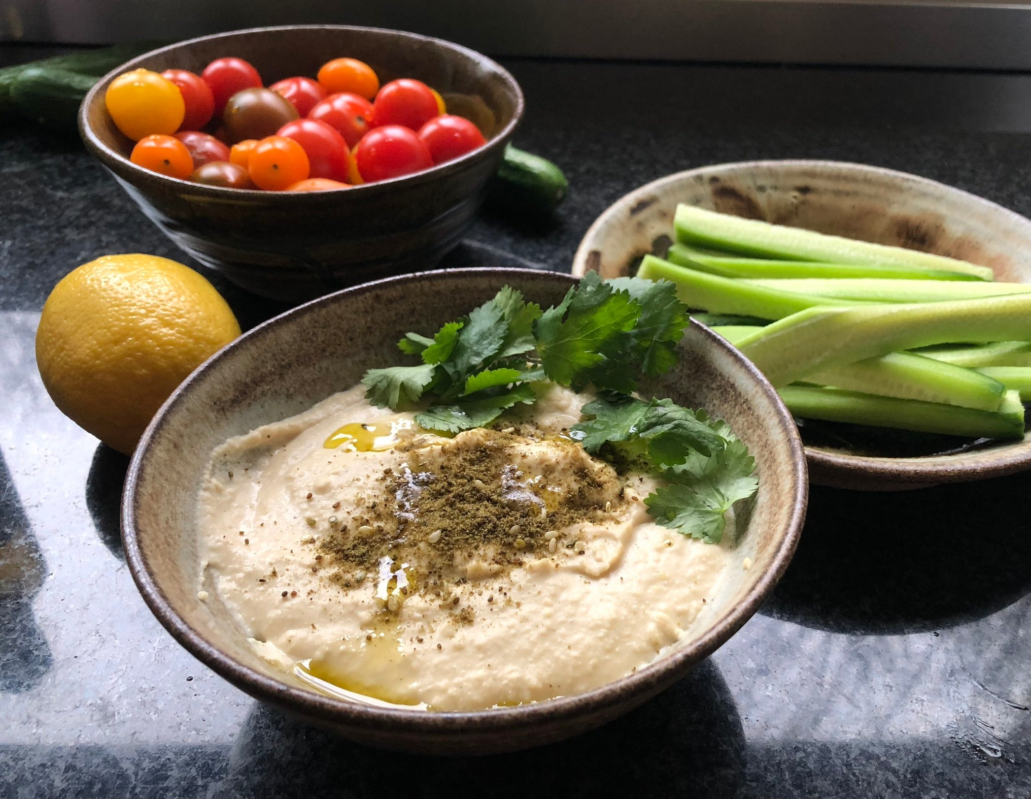 Delicious home-made hummus in no time