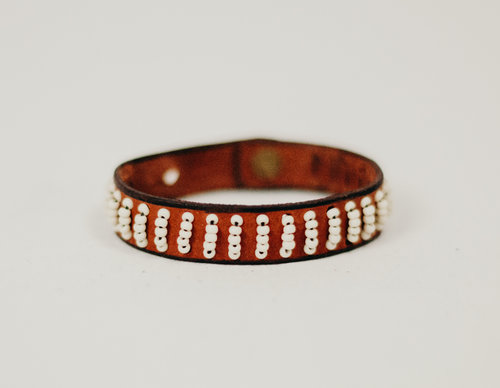 haitidesigncoBeaded+Rows+Leather+Bracelet+TAN%2FCREAM+2.jpg