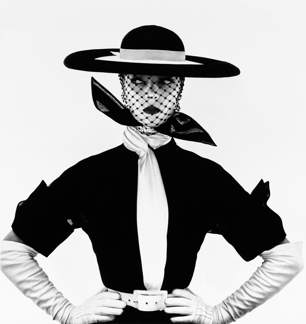 An image that appeared on the cover of  Vogue  in 1950.