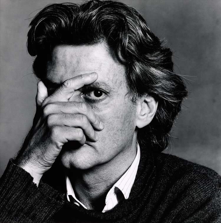 Irving Penn's photograph of his contemporary Richard Avedon. I see what you did there, Mr. Keatley. At the time this image was taken, it was one of the two most preeminent photographers of the time photographing the other. Keatley was likely saying as much about himself as he was about Leibovitz in his portrait of her.   Photograph by Irving Penn
