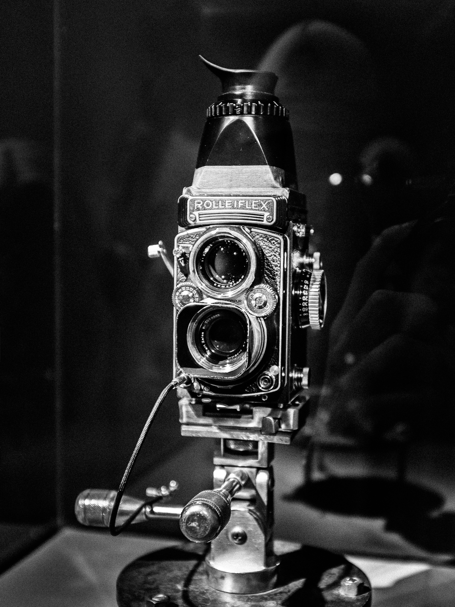 Penn's Rolleiflex camera, on which he shot a vast amount of his work throughout his career.