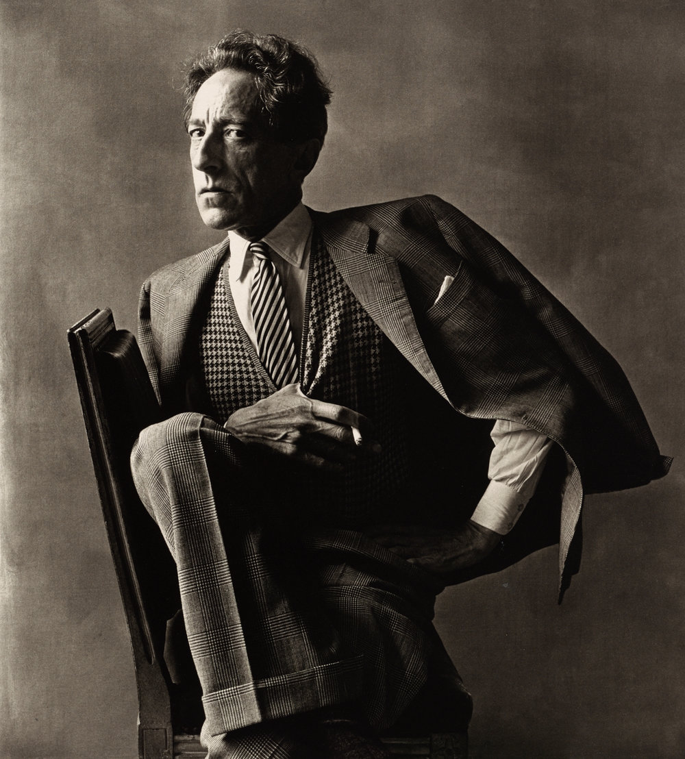 Photograph of Jean Cocteau by Irving Penn, 1948.